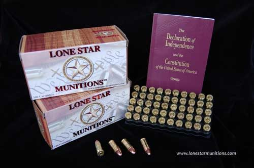9mm handgun ammunition with box and constitution booklet